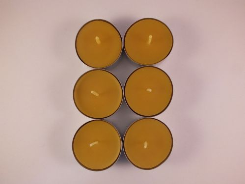 6 Handmade Pure Beeswax Tea Lights (Free Shipping UK)